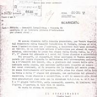Documento delll'apertura della scuola ebraica (insufficienza di spazio)