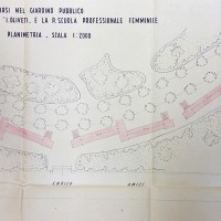 Planimetria dei rifugi tubolari nel giardino, 1943 (AS-FC Fo, C.P.P.A.A. Comitato Provinciale di Protezione Antiaerea, busta n. 28)