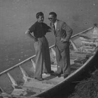 """Lino Vescovi, il """"Valoroso"""", sul Po a Monticelli d'Ongina dove era nato."""