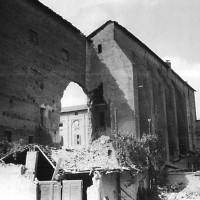 Piazzale Reinach dopo il bombardamento