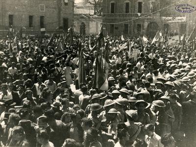 Manifestazione con Benigno Zaccagnigni e festa di smobilitazione della 28a Brigata Garibaldi