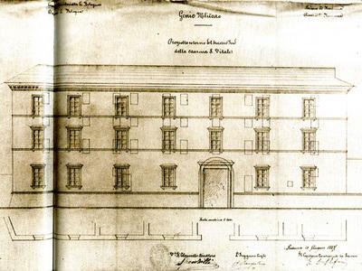 Ex Caserma Gorizia sede del 28° Reggimento di Fanteria dell'Esercito Italiano. Via S. Vitale