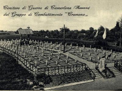 Cimitero militare del Gruppo di Combattimento Cremona del ricostituito Esercito Italiano. Camerlona, Strada Statale 16