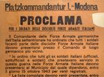 Proclama Paltzkommandantur di Modena.