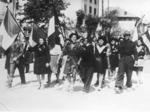 21 aprile 1945: i partigiani festeggiano la Liberazione a Bologna.