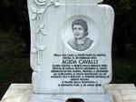 Stele dedicata ad Agida Cavalli Vandini, uccisa  da una squadra della Milizia Volontaria della Sicurezza Nazionale nell'atto di difendere il figlio partigiano, Guerriero Vandini.