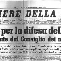 Il Corriere della Sera annuncia l'approvazione delle leggi razziali, riassumendo e ricapitolando le principali misure adottate contro gli ebrei.