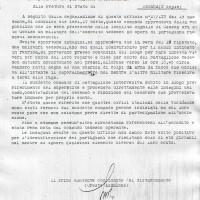 Documento della GNR che informa dell'uccisione del soldato tedesco