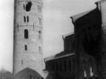 Il campanile di S. Apollinare in Classe danneggiato