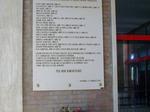 Lapide in stazione a ricordo degli ebrei deportati