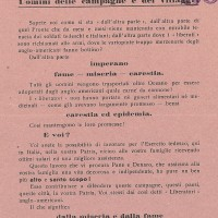 La propaganda tedesca terrorizza gli italiani affermando che l'arrivo degli Alleati genererebbe scenari catastrofici. Le campagne a favore del reclutamento nelle unità di lavoratori a sostegno del Reich non producono tuttavia effetti significativi.