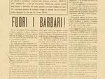 """""""Il grido del popolo"""", agosto 1944: periodico della Divisione Giustizia e Libertà di Piacenza stampato prima a Bobbio e poi a Bettola."""