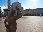 La piazza di Brescello.