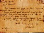 La lettera lasciata da Alfredo Borotti per la famiglia prima della fucilazione
