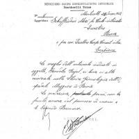 Documento della direzione del campo di concentramento di Monticelli inviato al Questore e al direttore del campo di Scipione, 26 dicembre 1943