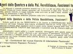 Appello del Comitato di liberazione nazionale agli agenti della questura di Modena.