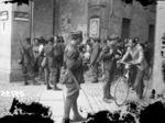 Posto di blocco dell'esercito.