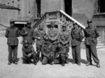 Ufficiali della Compagnia della morte nel cortile della Federazione fascista di Modena.