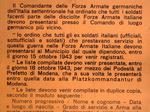 Ordini tedeschi per costringere i soldati e gli ufficiali italiani a ripresentarsi nelle caserme.