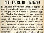 Uno dei primi appelli per la ricostituzione dell'esercito fascista.
