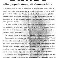 Bando tedesco alla Popolazione di Comacchio (Archivio storico Comacchio)