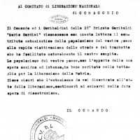 Diario Storico della 28ª Brigata Garibaldi Distaccamento di Comacchio, Boldrini, \