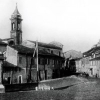 Borgo e chiesa di San Rocco, 1905 (BCM Fondo Dellamore, FDP 787)