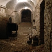 Catacombe della chiesa dell'Osservanza oggi 2di3 (foto dell'autore)