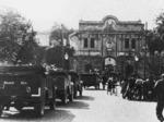 """Autocolonna della Divisione """"Leibstandarte"""" entra nella Cittadella di Parma il 9 settembre 1943"""