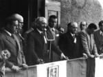 """Albergo Ghirardini, sede del comando unico ( autunno 1944). Ferruccio Parri commemora il comandante """"Pablo""""."""