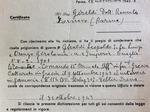 Certificato dell'Ufficio ricerche notizie prigionieri della Croce Rossa