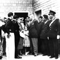 Giorgio Sanguinetti incontra Rachele Guidi Mussolini (in mezzo Anna Maria Mussolini), fine anni '30 (ANPI-Cesena)