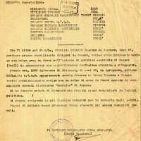 Documento dei carabinieri che informa dell'uccisione di Rolandi e Leto