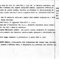 Documento di licenziamento di Araldo Dellamore