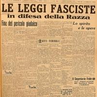 La prima pagina del Popolo di Romagna del 12 novembre 1938