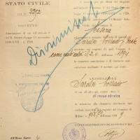 Certificato di razza ebraica di Corrado Saralvo
