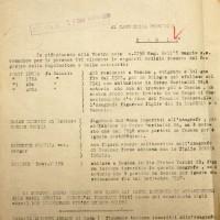 Documento del 1944 attestante l'allontanamento di Balazs da Cesena (Archivio di Stato)