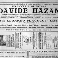 Pubblicità della pellicceria Hazan sul giornale cattolico \