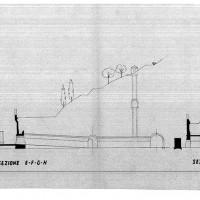 Progetto di ampliamento del Ricovero Antiaereo- Sezione