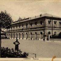 Cesena, Stazione, 1925-1935 circa (BCM Fondo Bacchi cartoline, FCB 1219)