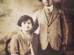 Eleuterio Massari con la moglie