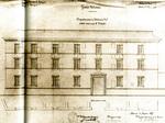Caserma San Vitale. Disegno della facciata