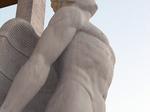 """Collegio aeronautico """"B. Mussolini"""", statua di Icaro oggi"""