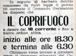 A seguito dell'uccisione di Bocchi viene introdotto il coprifuoco a Modena.