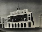 Tavola del progetto architetto di C. Valle (1934)