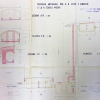Planimetria del primo rifugio, 1943 (AS-FC Fo, C.P.P.A.A. Comitato Provinciale di Protezione Antiaerea, busta n. 28)