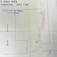 Planimetria del quarto rifugio, 1943 (AS-FC Fo, C.P.P.A.A. Comitato Provinciale di Protezione Antiaerea, busta n. 28)