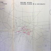 Planimetria dei ricoveri scolastici a Cesena, 1943 (AS-FC Fo, C.P.P.A.A. Comitato Provinciale di Protezione Antiaerea, busta n. 28)