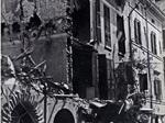 Il Palazzo della Provincia dopo i bombardamenti
