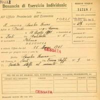 Saralvo Renzo, Vendita stoffe al minuto, Piazza Saffi 9, 1931 (CCIAA)